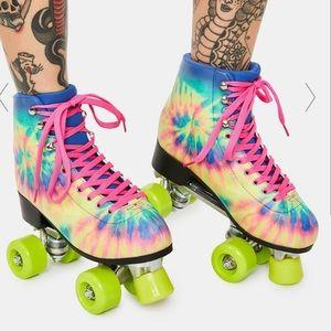 Rainbow Tie dye Roller Skates
